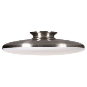 Skye Satin Nickel 15-Inch LED Flush Mount