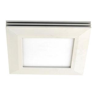 Sloane White 15-Inch LED Flush Mount