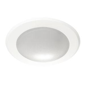 Slim White Four-Inch LED Flush Mount