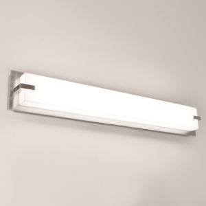 Sinclair Satin Nickel 27-Inch LED Bath Vanity