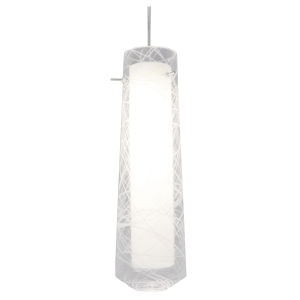 Spun Satin Nickel 4000K 120V LED Mini Pendant with Clear Shade