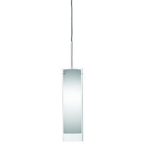 View Satin Nickel 3000K 120V LED Mini Pendant with White Shade