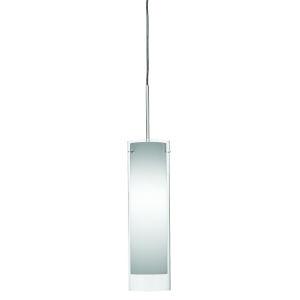 View Satin Nickel 4000K 120V LED Mini Pendant with White Shade