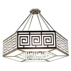 Argos Gloss White Six-Light Pendant