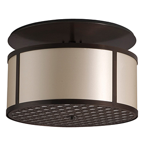 Brentwood Polished Chrome 120V LED 20-Inch Semi Flush Mount with Black Silk Dupioni