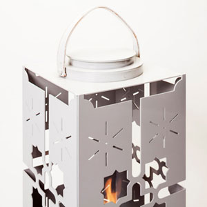 Istanbul Lantern with Lid in White
