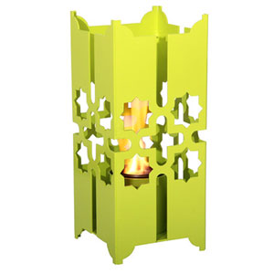 Tripoli Small Lantern in Sweet Lime
