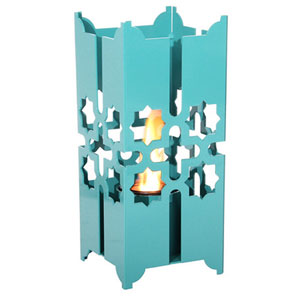 Tripoli Small Lantern in Turquoise