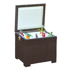 Barbados Ebony End Table Ice Chest