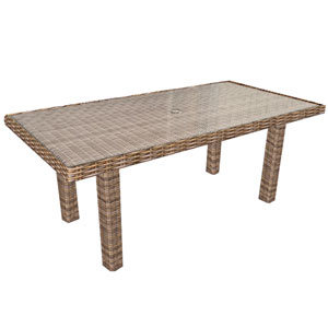 Cypress Brown Table, Glass Top Ordered Separately