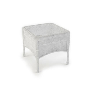 Rockport White End Table