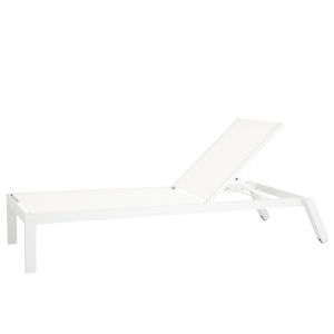 Naples Frost White Outdoor Stackable Chaise Lounge