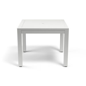 Naples Frost White 36-Inch Outdoor Dining Table