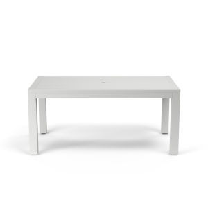Naples Frost White 64-Inch Outdoor Dining Table