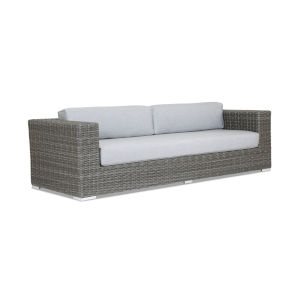 Emerald II Steel Grey Wicker Sofa with Cushion in Spectrum Carbon