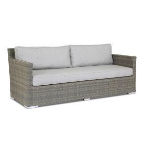 Majorca Brushed Stone Wicker Sofa with Cushion