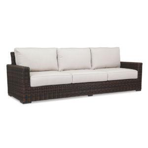 Montecito Cognac Wicker Sofa with Cushion