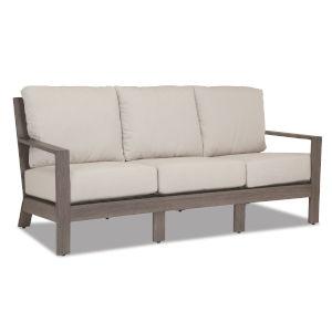 Laguna Brushed Driftwood Powdercoat Sofa with Cushion in Canvas Flax