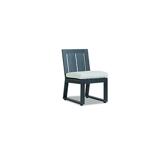 Redondo Burnished Gray Armless Dining Chair with Cast Silver Cushions