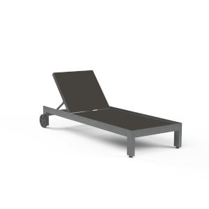 Redondo Brushed Slate Powdercoat Adjustable Chaise with Sling