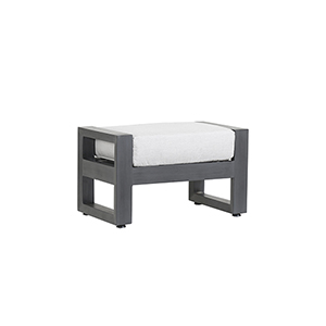 Redondo Burnished Gray Ottoman with Cast Silver Cushions