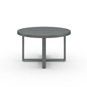 Redondo Brushed Slate Powdercoat 50-Inch Round Dining Table