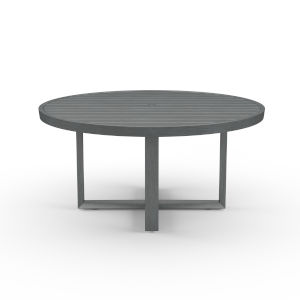 Redondo Brushed Slate Powdercoat 60-Inch Round Dining Table