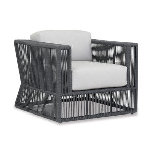 Milano Charcoal Rope Club Chair with Echo Ash Cushion