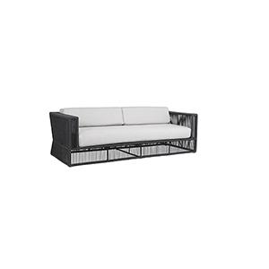 Milano Steel Gray Sofa with Echo Ash Cushions