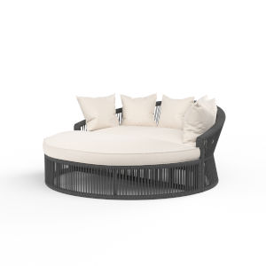 Milano Charcoal Rope Daybed with Echo Ash Cushion