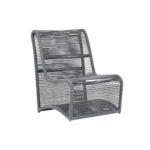 Milano Steel Gray Armless Club Chair