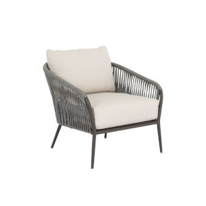 Bazaar Grey Rope Club Chair