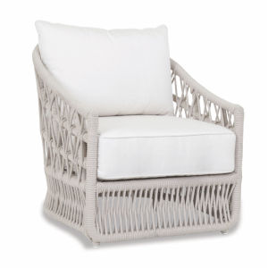 Dana Linen Rope Rope Club Chair with Linen Canvas Cushion