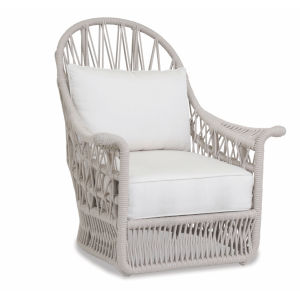 Dana Linen Rope Rope Wing Chair with Linen Canvas Cushion