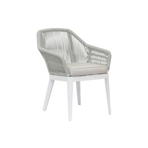 Miami Frost Rope Dining Chair with Echo Ash Cushion