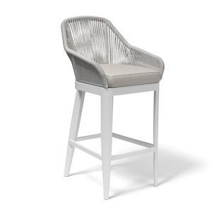 Miami Silver Grey Outdoor Barstool