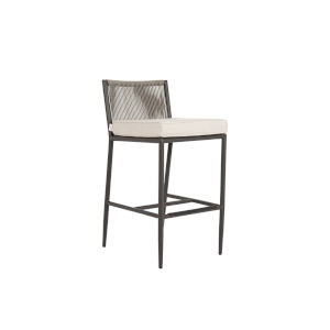 Pietra  Graphite Outdoor Barstool