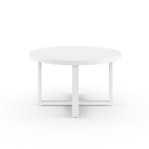 Newport Frost Powdercoat 50-Inch Round Dining Table