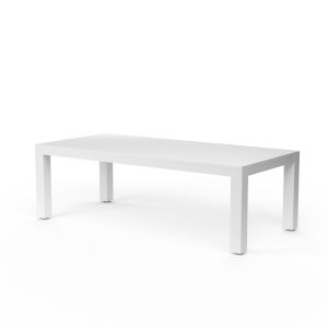 Newport Frosted White 90 In. Dining Table