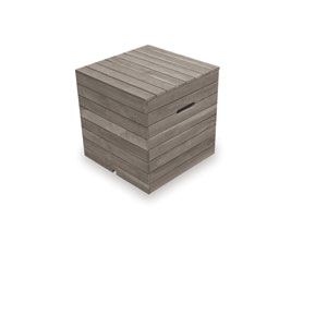 Teak Driftwood 20-Inch Tank Cover and End Table