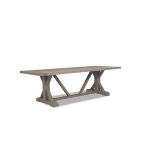 Teak Driftwood 94-Inch Trestle Dining Table