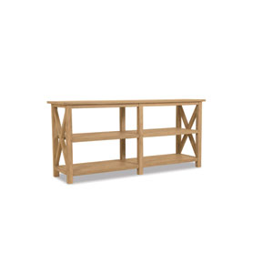 Teak Rustic Natural 72-Inch Console Table