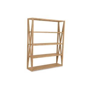 Teak Rustic Natural 60-Inch Bookcase