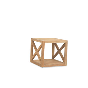 Teak Rustic Natural 22-Inch End Table