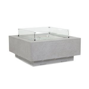 Bazaar Gray 40-Inch Square Fire Table