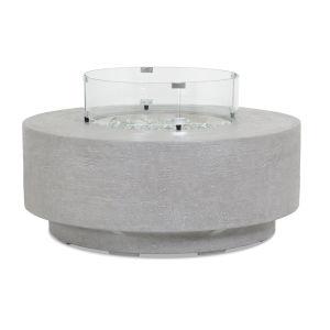 Bazaar Gray 41-Inch Round Fire Table