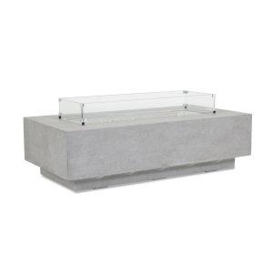 Bazaar Gray 30-Inch Rectangular Fire Table