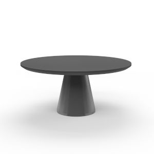 Bazaar Dark Grey 63-Inch Pedestal Dining Table