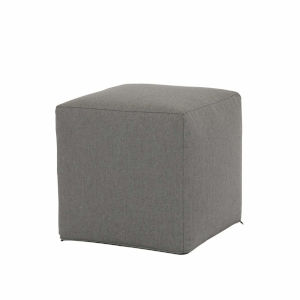 Bazaar Heritage Granite Cube Pouf