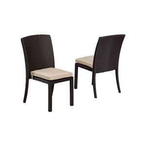 Solana Antique Beige Armless Dining Chair